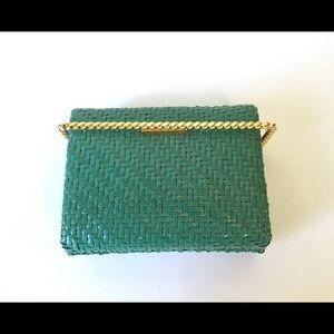 Vintage Rodo Italy straw clutch purse